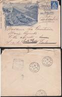 *SVIZZERA -- Busta Illustrata  Albergo GRAND HOTEL DES AVANTS - MONTREUX.ANNULLO 13/09/1909. - Storia Postale