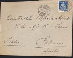 SVIZZERA -- Busta LOSANNA-PALERMO - ANNULLO 22/06/1909. - Storia Postale