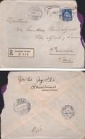 SVIZZERA -- Busta LOSANNA-PALERMO - ANNULLO 09/07/1909.Su Raccomandata. - Storia Postale