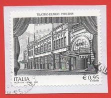 2018 (3823) 100° Anniversario Dell'inaugurazione Del Teatro Eliseo, A Roma - Leggi Il Messaggio Del Venditore - 6. 1946-.. Repubblica