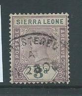 Sierra Leone 1896 QV 3d Sound Used - Sierra Leone (...-1960)
