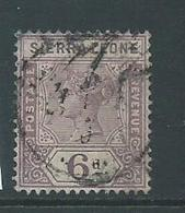 Sierra Leone 1896 QV 6d Sound Used - Sierra Leone (...-1960)