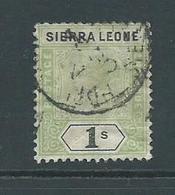 Sierra Leone 1896 QV 1 Shilling Used , Creased - Sierra Leone (...-1960)