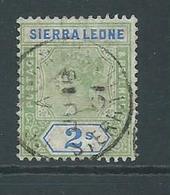 Sierra Leone 1896 QV 2 Shilling Sound Used - Sierra Leone (...-1960)