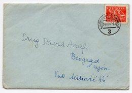 1947 YUGOSLAVIA, SLOVENIA, SERBIA, TPO NUMBER 3,  LJUBLJANA BEOGRAD CANCELATION ON COVER 14.08.1947 - Slovenia