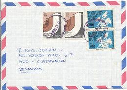 Turkey Air Mail Cover Sent To Denmark 11-11-1975 - 1921-... République