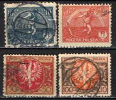 POLONIA - 1921 - SEMINATORE ED ARCOBALENO DELLA SPERANZA - STEMMA DELLA POLONIA - USATI - 1919-1939 Repubblica