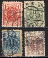 POLONIA - 1921 - STEMMA DELLA POLONIA - AQUILA - USATI - 1919-1939 Repubblica