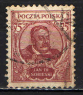 POLONIA - 1930 - JAN III SOBIESKI - USATO - 1919-1939 Repubblica