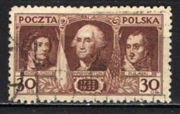 POLONIA - 1932 -  200° ANNIVERSARIO DELLA NASCITA DI GEORGE WASHINGTON - USATO - 1919-1939 Repubblica