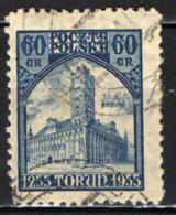 POLONIA - 1933 -  700° ANNIVERSARIO DELLA FONDAZIONE DELLA CITTA' DI TORUN - USATO - 1919-1939 Repubblica