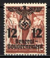 POLONIA - 1940 - FRANCOBOLLO DI POLONIA SOVRASTAMPATO - OVERPRINTED - USATO - Governo Generale