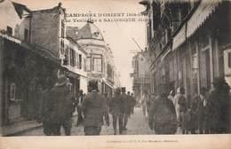 Grece Campagne D' Orient 1914 1918 Rue Venezelos à Salonique Cpa Carte Animée Carte écrite En 1918 - Grèce