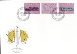 SVIZZERA -- 1982 Fdc : Ferrovia Del Gottardo. - FDC