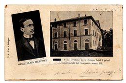 PONTECCHIO DI SASSO MARCONI  VILLA GRIFFONE DOVE FURONO FATTI I PRIMI ESPERIMENTI DEL TELEGRAFO SENZA FILI  1905 - Bologna