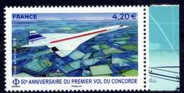 FRANCE PA N° 83a CONCORDE 50eme ANNIVERSAIRE DU 1er VOL DE FEUILLET NEUF ** BDF DROIT - Luchtpost