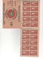 MARRUECOS-Protectorado Frances Carnet 20 Sellos  Sellos Nuevos Sin Fijasellos (según Foto) - Marruecos (1956-...)