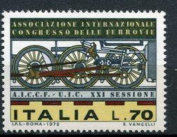 Italia (1975) - Congresso Delle Ferrovie ** - 6. 1946-.. Repubblica