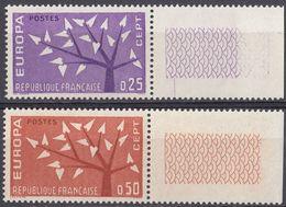 FRANCE - 1962 - Serie Completa Formata Da 2 Valori Nuovi MNH: Yvert 1358/1359 Con Margini Di Foglio. - Francia