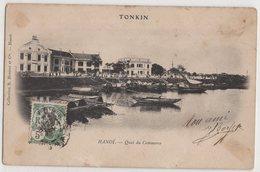 8751 Cochinchine Vietnam Tonkin Hanoi Quai Du Commerce Stamping Indo-Chine Port - Vietnam