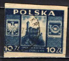 POLONIA - 1946 - CASTELLO DI LANCKORONA - IMPERFORATED - USATO - Usati