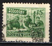 POLONIA - 1951 - RICOSTRUZIONE DI VARSAVIA - USATO - Posta Aerea
