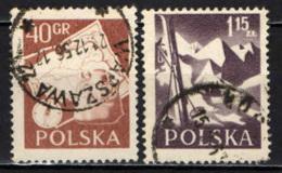 POLONIA - 1956 - SERIE TURISTICA - USATI - Usati