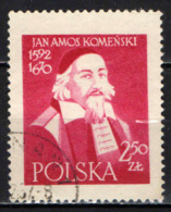 POLONIA - 1957 - 300° ANNIVERSARIO DELLA PUBBLICAZIONE DELL' OPERA OMNIA DI KOMENSKY - COMENIUS - USATO - Usati