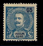 ! ! Inhambane - 1903 King Carlos 65 R - Af. 22 - MH - Inhambane