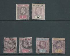 Sierra Leone 1903 KEVII Group 1d & 5d Mint, 1d , 2d & 2&1/2d Used - Sierra Leone (...-1960)