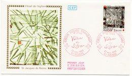 FDC France 1986 - Croix Rouge 1986 - Vitrail St Jacques De Reims YT 2449 - 51 Reims - FDC