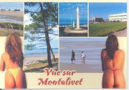 Femme Nue Vue Sur Montalivet (fesses, String, Nue, Plage) Multivues Editions René - France