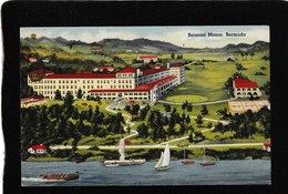 Bermuda-Belmont Manor Linen 1940s- Antique Postcard - Bermuda