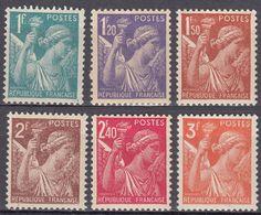 FRANCE - 1944 - Lotto Formato Da 6 Valori Nuovi MNH: Yvert 650/655. - 1939-44 Iris
