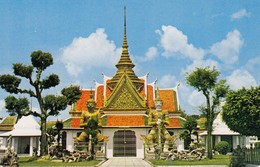 Postcard Big Giants Guarding Wat Aroon Thornburi Greater Bangkok Thailand My Ref  B13037 - Thailand