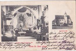 Inneres Und Hochaltar Der Kirche St Anna Eger Äusseres Der - Tchéquie