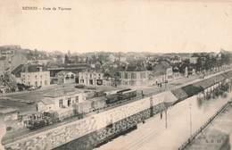 Chemin De Fer Gare Avec Train Rennes Gare De Viarmes Cpa Carte Animée - Stations With Trains