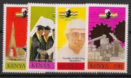 Kenya - 1989 - N°Yv. 483 à 486 - Nehru - Neuf Luxe ** / MNH / Postfrisch - Kenya (1963-...)