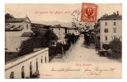 UN SALUTO DAI BAGNI DELLA PORRETTA  VIALE MAZZINI   1903 - Imola