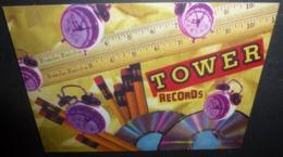 Carte Postale - Tower Records / Video / Books (crayons - Réveils - CD) Artist : Maria Gregoire - Publicité