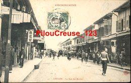 "VIETNAM - CHOLON - "" La Rue Des Marins - Animations "" - CARTE PRECURSEUR - Vietnam"