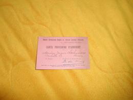 CARTE PROVISOIRE D'ADHERENT REIMS...GROUPE REPUBLICAIN REMOIS DE L'ACTION LIBERALE POPULAIRE.. - Unclassified