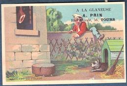 Chromo à La Glaneuse PRIN Tours Série Complète Lot De 6 Litho Courbe Rouzet Voleur De Jambon Concierge Bouledogue Niche - Unclassified