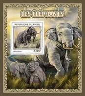 Niger, 2016. [nig16505] Fauna, Elephants (s\s+bl) - Elephants