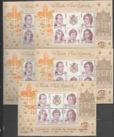 ESPAÑA- 2754 Hojas Bloque Familia Real España 84--5 Hojas   Nuevas (según Foto) - Blocs & Hojas