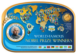 SIERRA LEONE 2019 - Nobel Prize: A. Einstein S/S. Official Issue. - Fysica