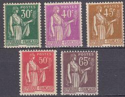 FRANCE - 1932/1933 - Lotto Composto Da 5 Valori Nuovi MNH: Yvert 280/284. - 1932-39 Paz