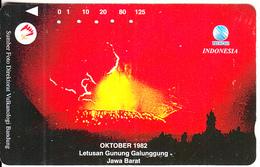 INDONESIA - Volcano, Letusan Gunung Galunggung Jawa Barat, Used - Indonesia