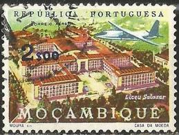 MOZAMBIQUE 1962 - Mi. 487 O, Salazar High School | Aircraft | Buildings | Landscapes | Schools | Air Post - Mozambique
