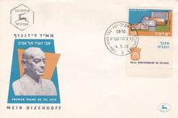 MEIR DIZENGOFF-FDC TEL AVIV YAFO 1959 ISRAEL - BLEUP - FDC